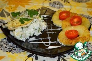 Рецепт Камбала с экзотическим рисом