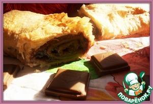 Рецепт Штрудель с шоколадно-ореховой начинкой