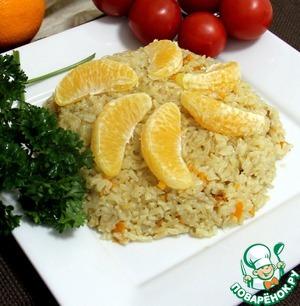 Рецепт Апельсиново-имбирный рис по-американски.
