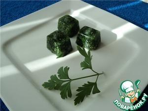 Рецепт Зеленые кубики