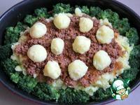 Мусака с брокколи и картофельным пюре ингредиенты