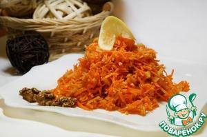 Рецепт Морковный салат с имбирной заправкой