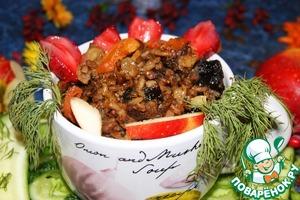 Рецепт сладкий рис с фруктами