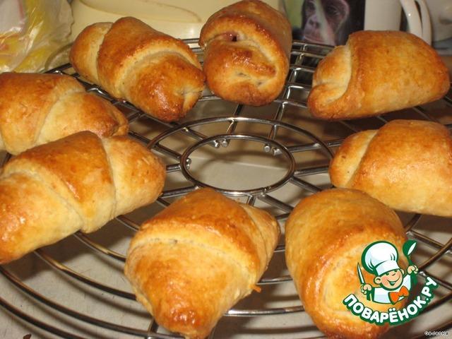 Печенье Рогалики с повидлом  пошаговый рецепт с фото на