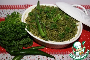 Рецепт Arroz verde - Зеленый рис по-мексикански