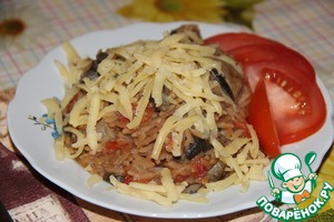 Рецепт грибной плов по - милански