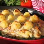 Мусака с брокколи и картофельным пюре