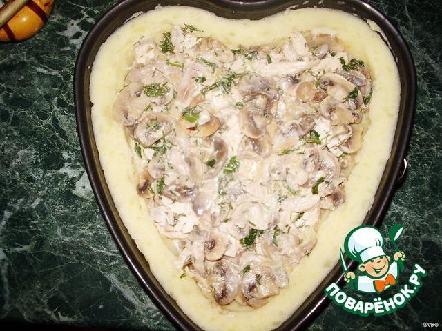 """Как готовить вкусный рецепт с фото Запеканка """"Сердце для любимого"""" #3"""
