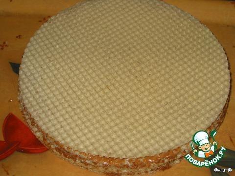 Как сделать торт из коржей вафельных