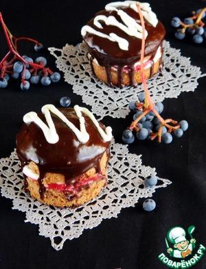"""Рецепт Пирожное """"Шоколадная малина"""""""