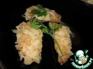 Рецепт Куриные наггетсы с сыром в духовке