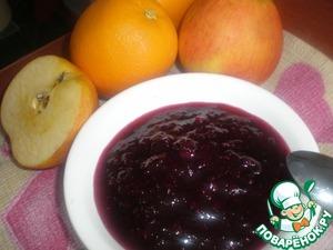Рецепт Брусничное варенье с апельсинами и яблоками