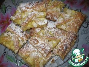 Рецепт Слоеный пирог с яблоком и бананом