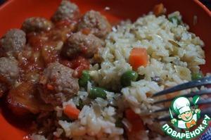 Рецепт Коричневый рис с семечками и овощами