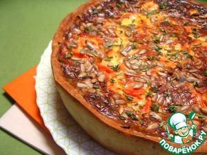Рецепт Пикантный морковный пирог с пряными травами