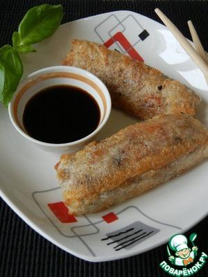 Рецепт Китайские весенние роллы с рисом и грибами