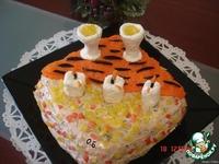 """Закусочный торт """"Новогодний"""" ингредиенты"""