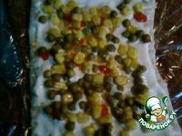 Закусочный торт из слоеного теста ингредиенты