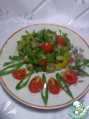 Как приготовить Салат из баклажанов рецепт приготовления с фото