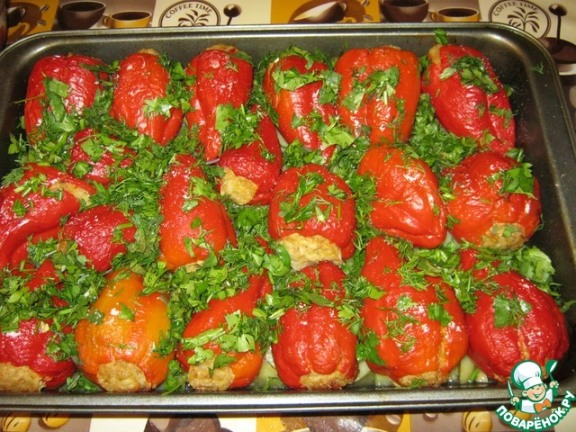 Рецепт болгарский перец в духовке