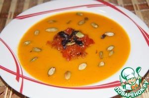 Рецепт Суп-пюре из тыквы с медом и базиликом