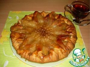 Рецепт Пирог-перевертыш с грушами и орехами