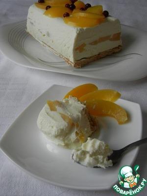 """Рецепт Замороженный творожный торт """"Наслаждение"""""""