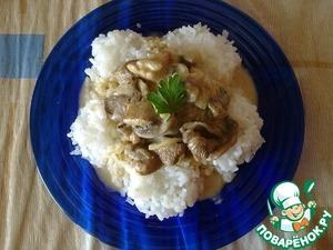 Рецепт Индейка с грибами в сметане