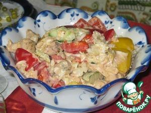 Рецепт Салат с курицей и китайской капустой