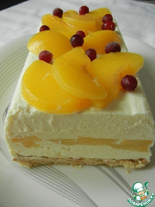 """Замороженный творожный торт """"Наслаждение"""""""