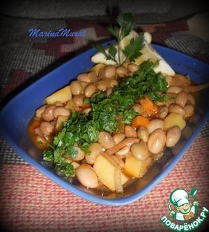 Рецепт Фасоль в оливковом масле или турецкая барбунья