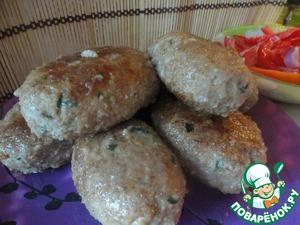 Рецепт Курино-говяжьи зразы с луком и яйцом