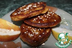 Рецепт Овсяно-яблочно-морковные оладьи