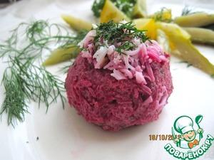 Рецепт Закуска из сельди, свеклы и картофеля