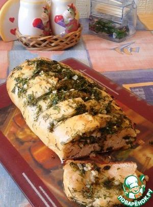 Рецепт Багет с чесночным маслом