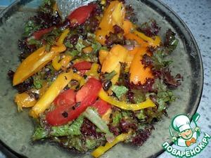 Рецепт Остренький салат из помидоров с базиликом