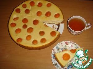 Рецепт Творожно-сырный пирог с абрикосами