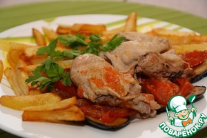 Рецепт Цыплята-корнишоны, тушенные в белом вине по-австралийски