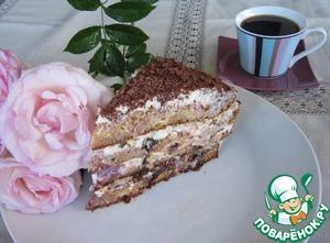 Рецепт Нежнейший медовый торт с вишней и черносливом
