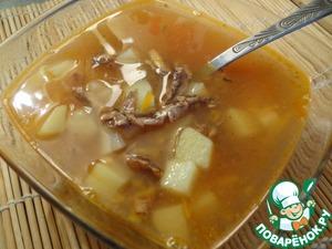 Рецепт Легкий рыбный супчик из кильки в томате