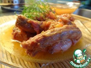 Рецепт Куриные шейки, тушенные с помидорами
