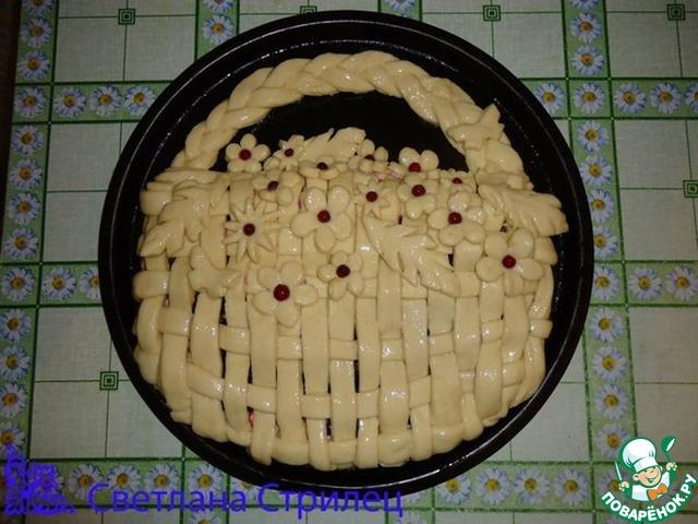 Пирог корзинка с вареньем рецепт с