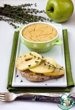 Рецепт Свинина по-валлийски с яблочным фланом