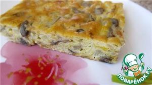 Рецепт Нежный пирог с капустой и грибами