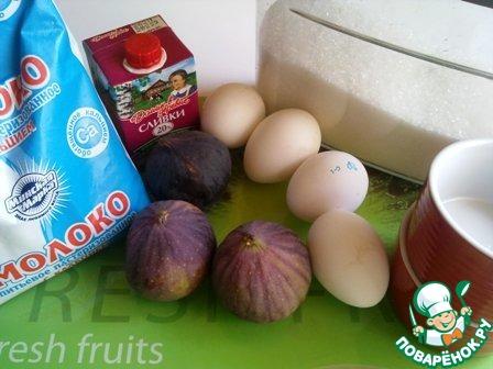 Как приготовить Флан с инжиром домашний рецепт с фото #1