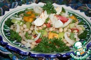 Рецепт Турецкий салат из белой фасоли