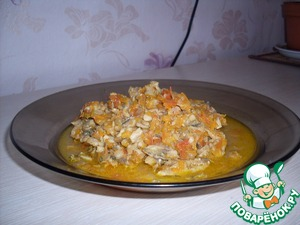 Рецепт Мойва, тушенная с овощами