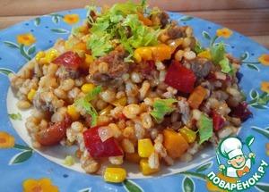Рецепт Перловка с овощами и фаршем