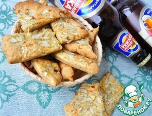 Рецепт Луковое печенье с черным перцем