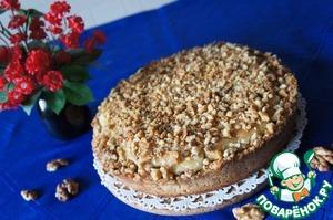 Рецепт Хрустящий пирог с грушами и орехами